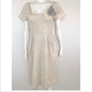 Anthropologie fit and flare dress size S